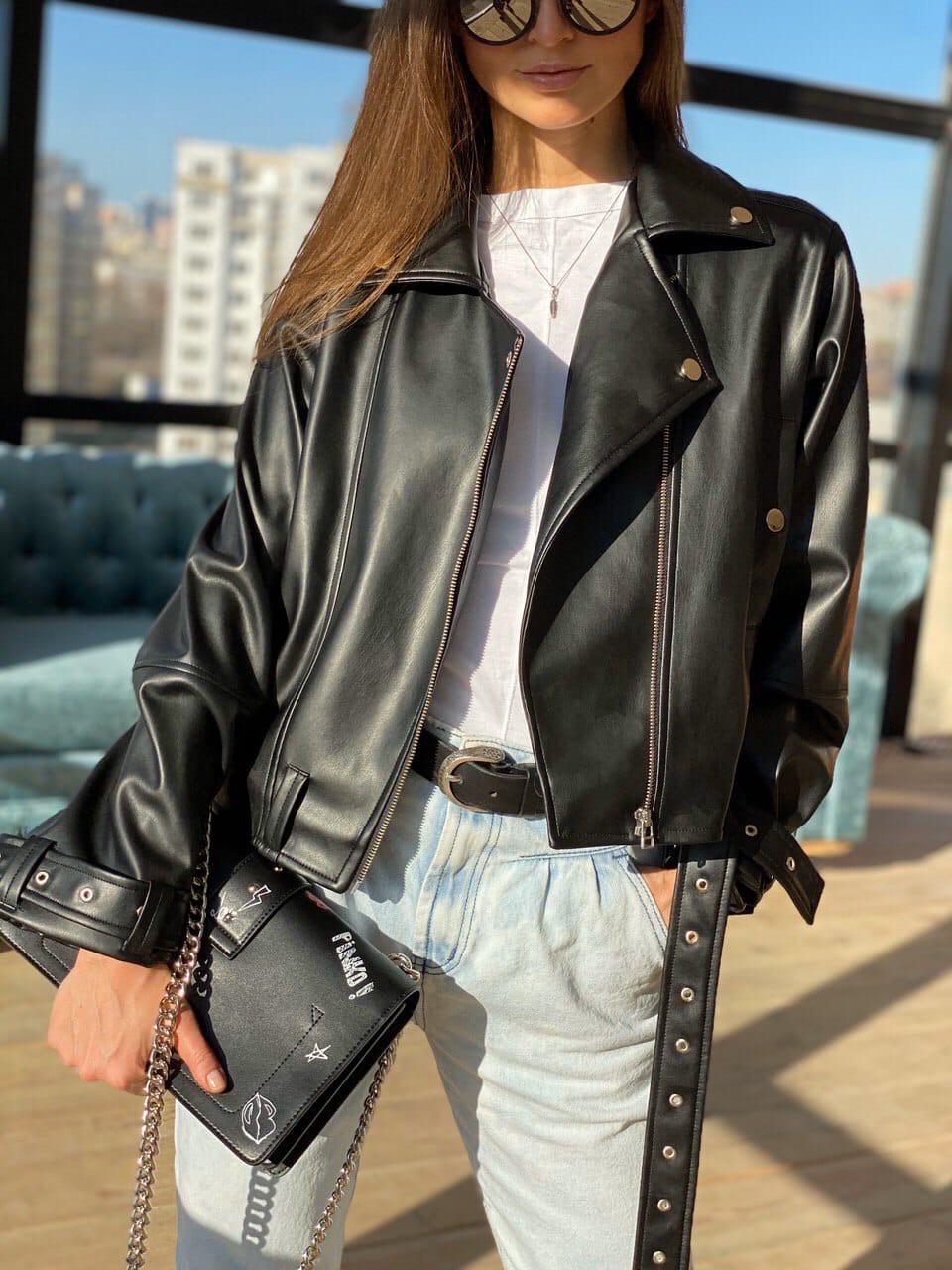 Куртка-косуха еко шкіра DM1621