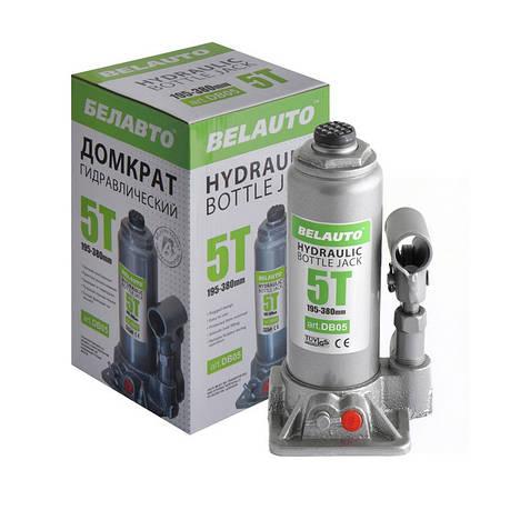 Домкрат пляшковий BELAUTO DB05 5т 195-380мм, фото 2