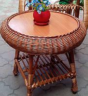 Журнальний плетений стіл