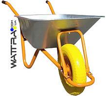 ⭐ Тачка строительная WB6405 BUDFIX одноколесная (полиуретан), объем вода / песок 90/170 л, грузопод-ть 160 кг