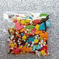 Посыпка сахарная цветной микс!