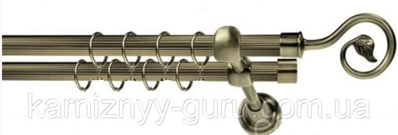 Карниз для штор двойной ø 16+16 мм,  Лукка