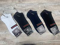 Набор  спортивных носков 12 пар, упаковка (носки в стиле Gucci ) 41-45 размер, фото 1