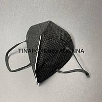 Маска  защитная с угольным фильтром, черная (1 шт)