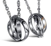 Парные кулоны кольца - Влюбленное сердце