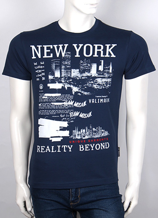 Футболка 3D Valimark Brand   NEW YORK цвет темно синий
