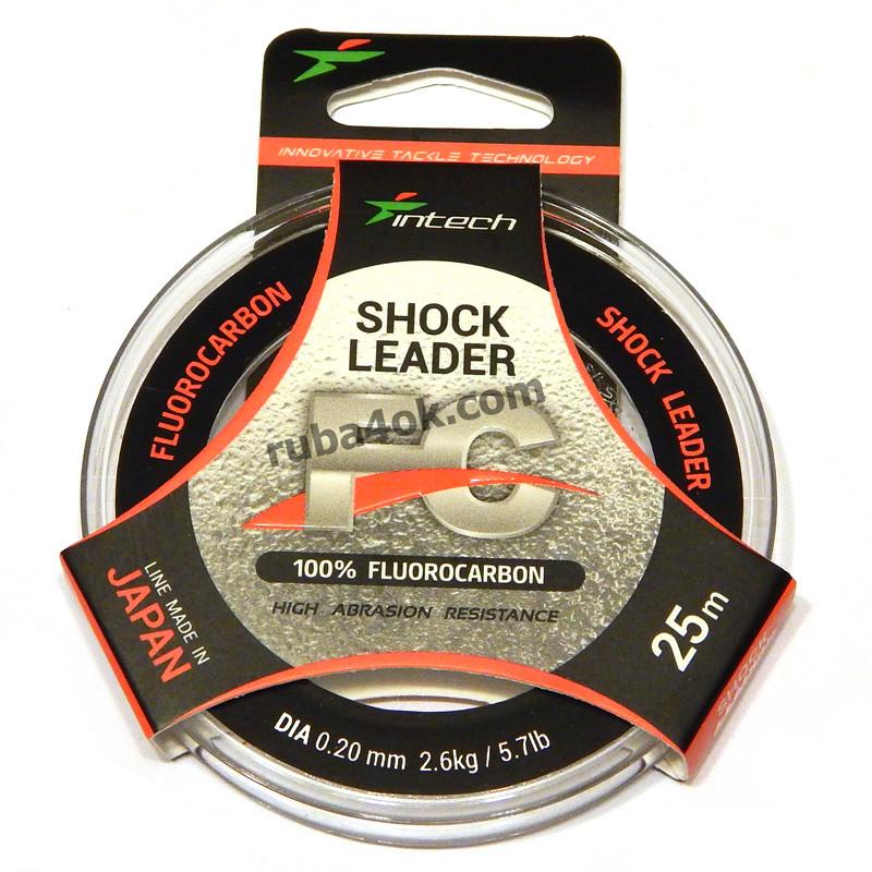 Флюорокарбон Intech FC Shock Leader 0.2мм 25м (2.6kg / 5.7lb)