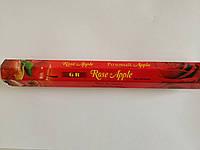 GR Роза Яблоко Rose Apple Incense Sticks Ароматические угольные палочки Благовоние Шестигранник Индия