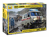 "Сборная модель УАЗ «3909» ""Аварийно-спасательная служба"" (масштаб: 1/43) Zvezda (43002), фото 1"