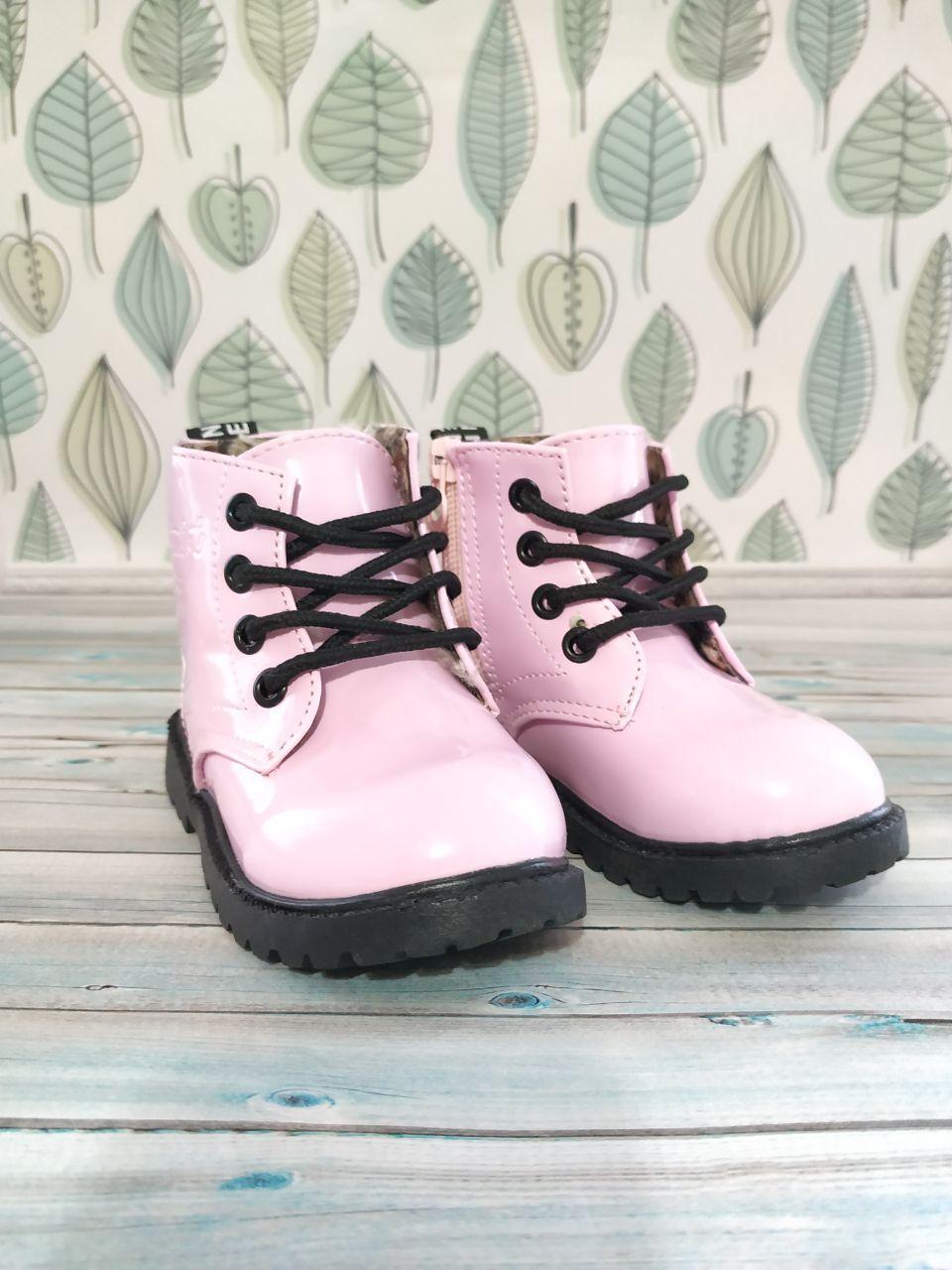 Демисезонные детские ботинки Детские деми ботинки для девочки Розовые детские деми ботинки