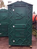Биотуалет кабина уличная передвижная зеленая от производителя