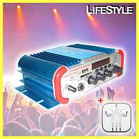 Підсилювач потужності звуку AMP CM 2042U D1001 + ПОДАРУНОК!!! Навушники Apple iPhone, фото 1