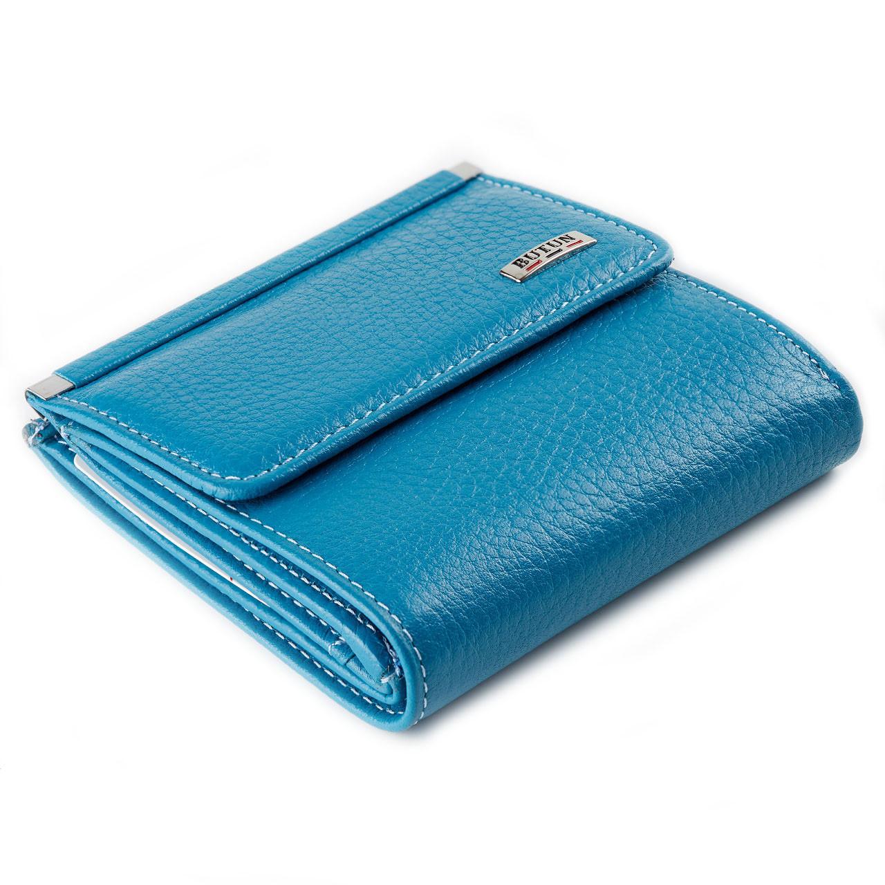 Маленький женский кошелек Butun 590-004-050 кожаный бирюзовый