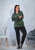 Женский батальный спортивный костюм с шевроном
