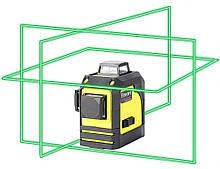 Лазерный уровень (нивелир) FireCore 3D MW-93T(F93TG) 12линий, 360 зеленый луч