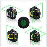 Лазерный уровень (нивелир) FireCore 3D MW-93T(F93TG) 12линий, 360 зеленый луч, фото 5