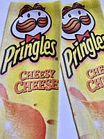 Прикольные мужские носки с принтом Pringles Cheese, фото 4