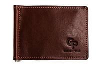 Зажим для купюр кожаный Grande Pelle GP111623 коньяк (12228), фото 1