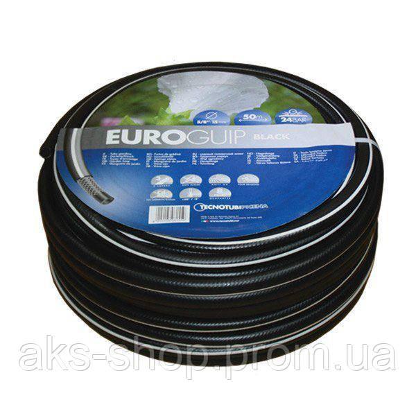 Шланг садовий Tecnotubi Euro Guip Black для поливу діаметр 1/2 дюйма, довжина 50 м (EGB 1/2 50)