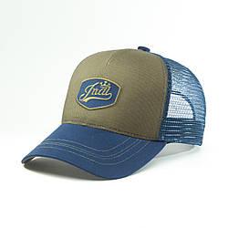 Кепка бейсболка мужская INAL retro badge S / 53-54 RU Синий 49153