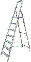 15088 Стрем'янка алюмінієва вільностояча 917 7сход.роб віс.3,5 м довж 2,2 м, вис площ.1,44 м вага 6,3 кг