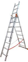 01410 Драбина універсальна з трьох частин BUDFIX 3x10cx. довж 6,12/2,76 вага 14,0 кг