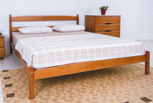 Двуспальная кровать МИКС-Мебель Ликерия 160*200 без изножья Светлый Орех (69288)