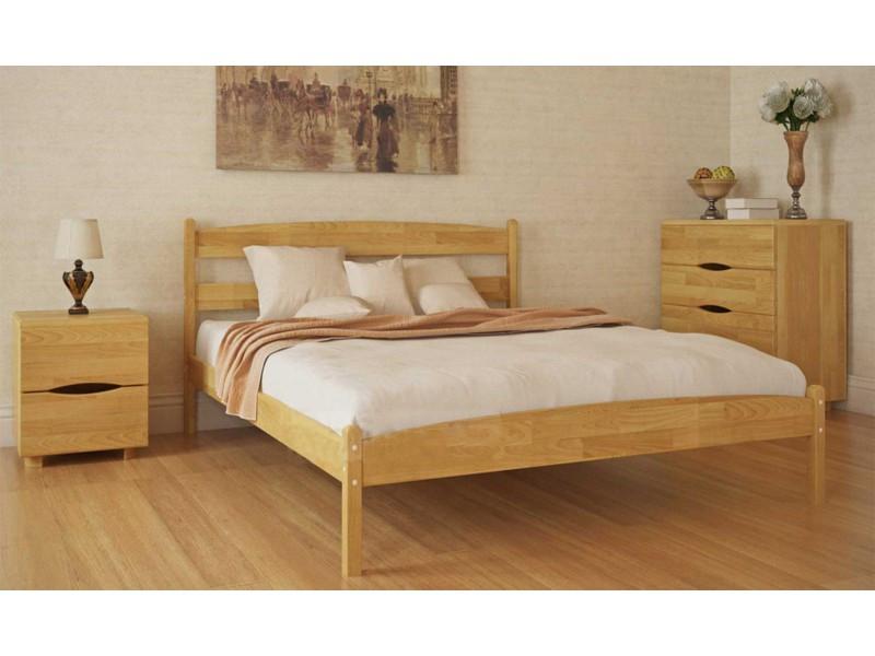 Двуспальная кровать МИКС-Мебель Ликерия 160*200 без изножья Бук (69290)