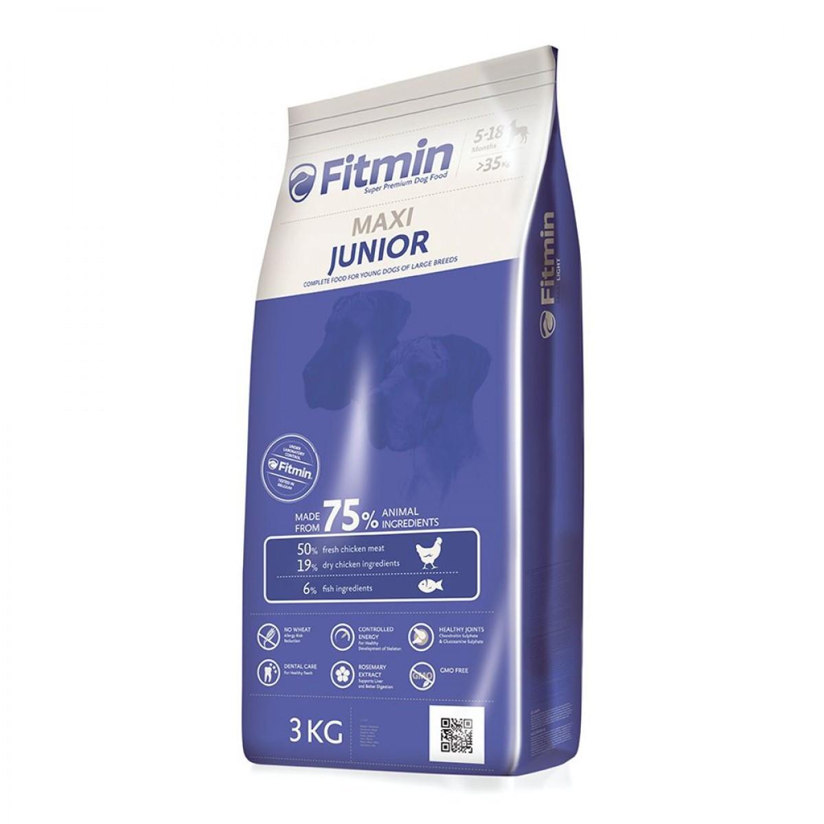 Fitmin Dog Maxi Junior 3 кг. Корм для щенков крупных пород от 5-ти до 18-ти месяцев