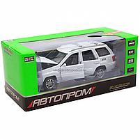 Машинка ігрова автопром «Jeep» (джип) метал, 14 см, білий (світло, звук, двері відкриваються) 7638, фото 2