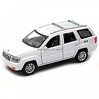 Машинка ігрова автопром «Jeep» (джип) метал, 14 см, білий (світло, звук, двері відкриваються) 7638, фото 3