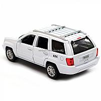 Машинка ігрова автопром «Jeep» (джип) метал, 14 см, білий (світло, звук, двері відкриваються) 7638, фото 4