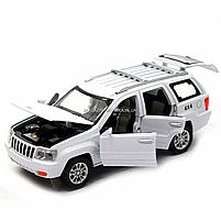 Машинка ігрова автопром «Jeep» (джип) метал, 14 см, білий (світло, звук, двері відкриваються) 7638, фото 5