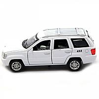 Машинка ігрова автопром «Jeep» (джип) метал, 14 см, білий (світло, звук, двері відкриваються) 7638, фото 6