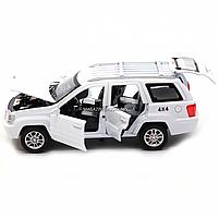 Машинка ігрова автопром «Jeep» (джип) метал, 14 см, білий (світло, звук, двері відкриваються) 7638, фото 7