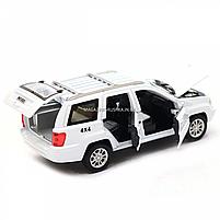 Машинка ігрова автопром «Jeep» (джип) метал, 14 см, білий (світло, звук, двері відкриваються) 7638, фото 8