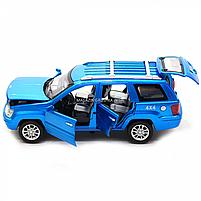 Машинка игровая автопром «Jeep» (джип) металл, 14 см, синий (свет, звук, двери открываются) 7638, фото 6