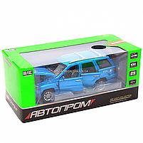 Машинка игровая автопром «Jeep» (джип) металл, 14 см, синий (свет, звук, двери открываются) 7638, фото 8
