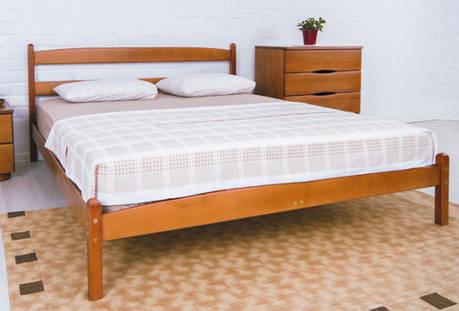 Двуспальная кровать МИКС-Мебель Ликерия 160*190 без изножья Светлый Орех (69610), фото 2