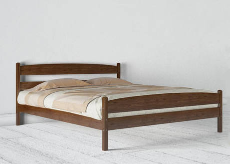 Двуспальная кровать МИКС-Мебель Ликерия 140*200 с изножьям Тёмный Орех (69515), фото 2