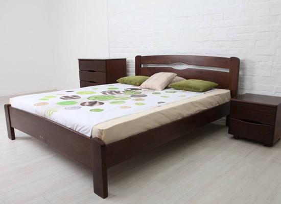 Двоспальне ліжко МІКС-Меблі Ликерія Люкс 140*190 без ізножья Венге (69740)