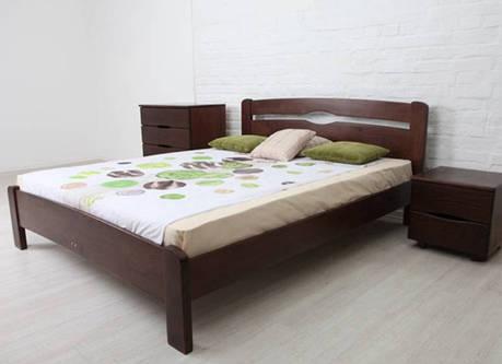Двоспальне ліжко МІКС-Меблі Ликерія Люкс 140*190 без ізножья Венге (69740), фото 2