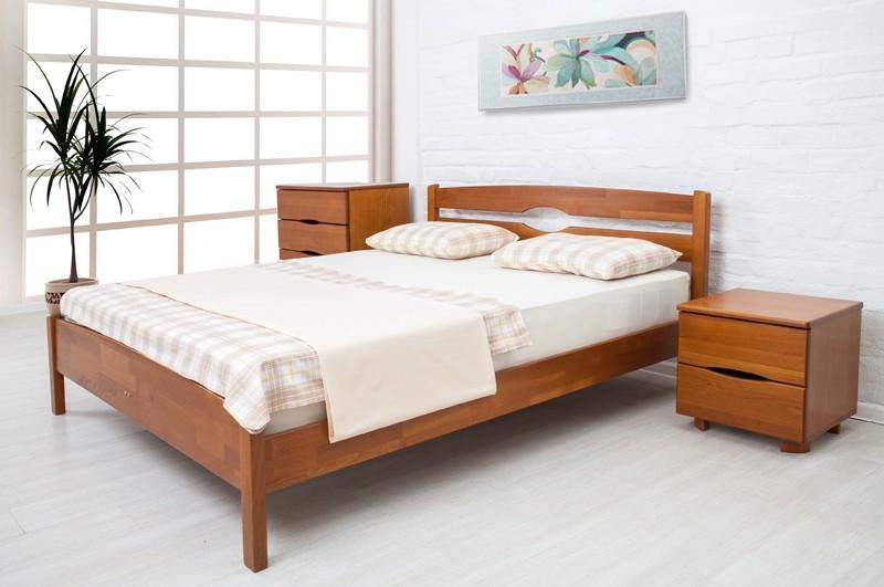 Двоспальне ліжко МІКС-Меблі Ликерія Люкс 140*190 без ізножья Світлий Горіх (69741)