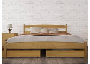 Двуспальная кровать МИКС-Мебель Ликерия без изножья с ящиками 180*190 Бук (69907), фото 2