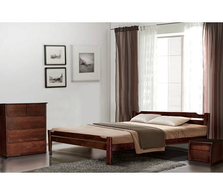 Двоспальне ліжко МІКС-Меблі Ольга 180*200 Каштан (69919), фото 2