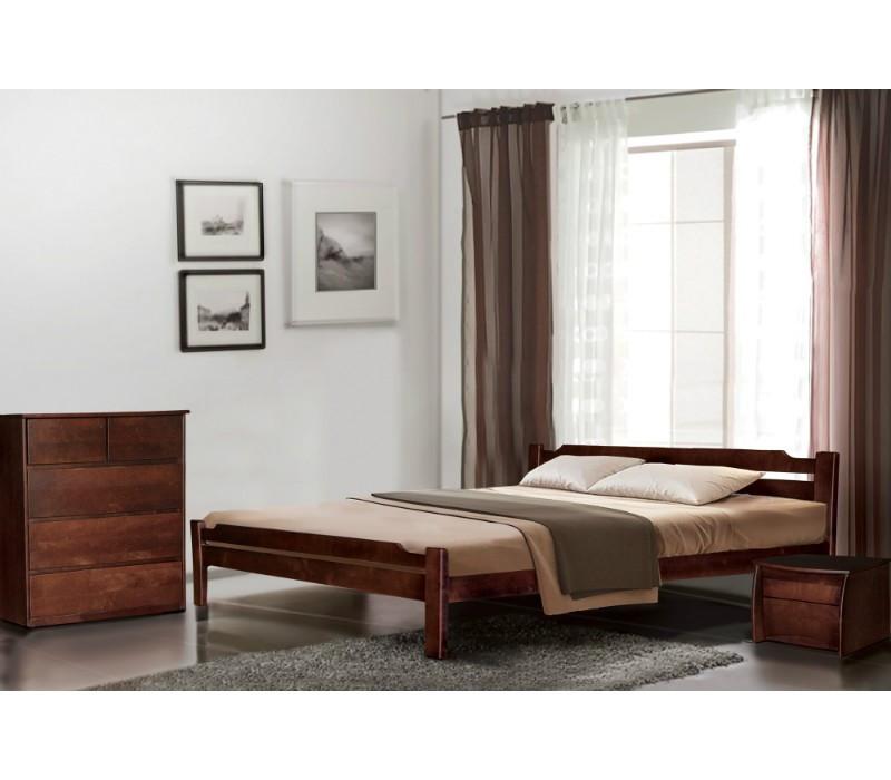 Односпальне ліжко МІКС-Меблі Ольга 90*190 Каштан (69921)