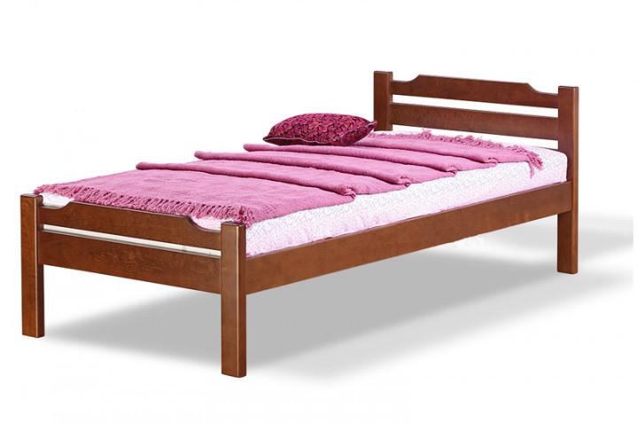 Односпальная кровать МИКС-Мебель Ольга 90*190 Орех (69922)