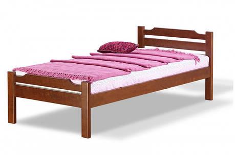 Односпальная кровать МИКС-Мебель Ольга 90*190 Орех (69922), фото 2