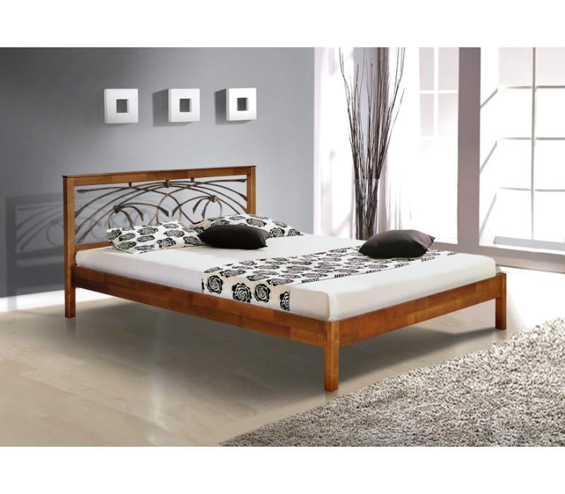 Двуспальная кровать МИКС-Мебель Карина 180*190 Орех (70057)