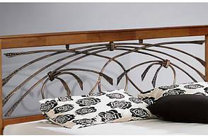 Двуспальная кровать МИКС-Мебель Карина 180*190 Орех (70057), фото 2